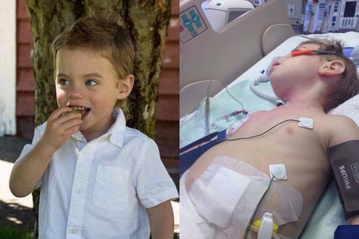 Two-year-old Jaxon was admitted to BC Children's Hospital in Vancouver after been diagnosed with a strain of E. coli. Photo submitted by Jolene Secord.