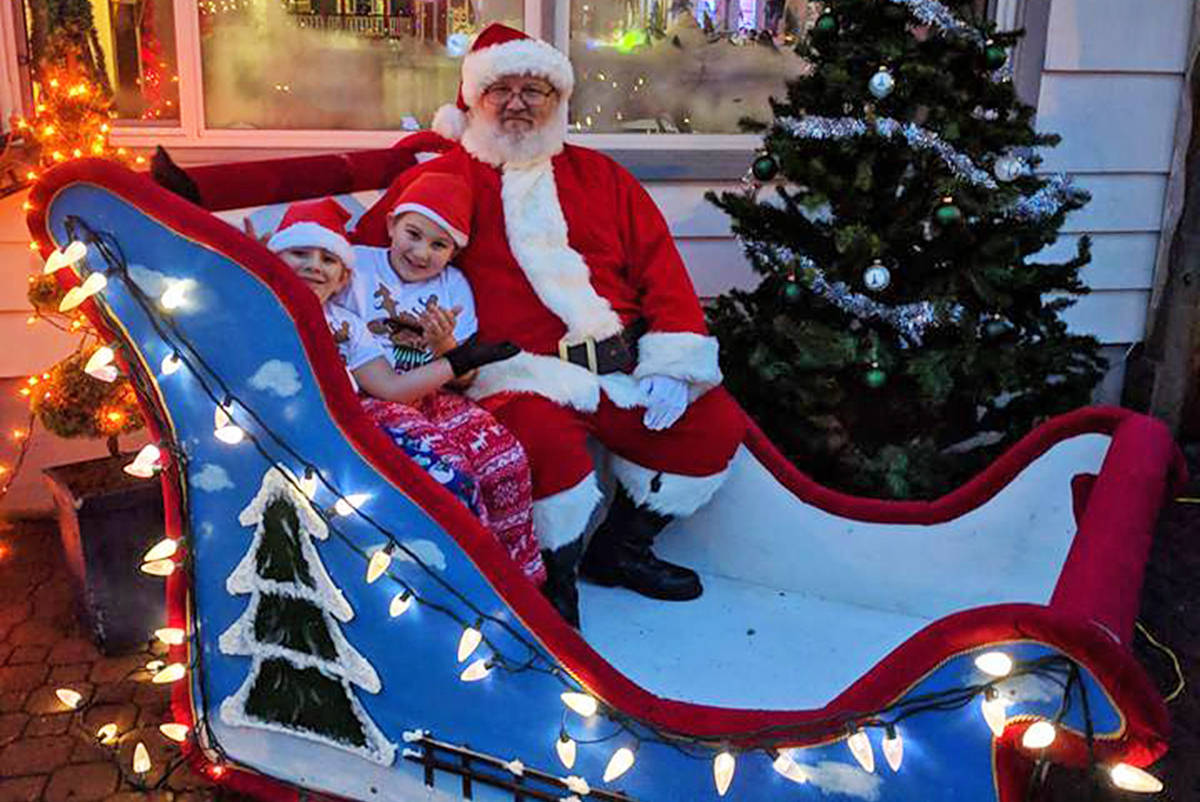 Don Taylor ran afoul of the Maple Ridge bylaws department for his Santa's North Pole Village attraction. (Facebook photo)